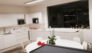 picture of kitchen during fitting and refurbishment in progress in london by pb builder