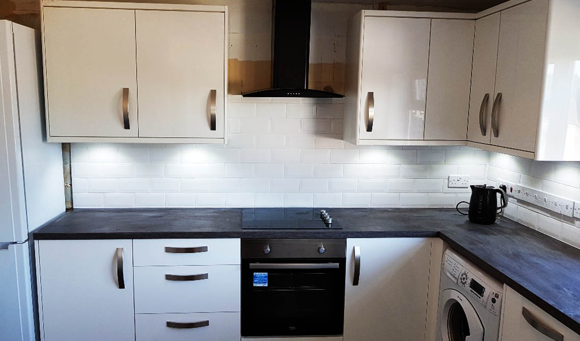 picture showing kitchen during renovation and fitting in london by pb builder
