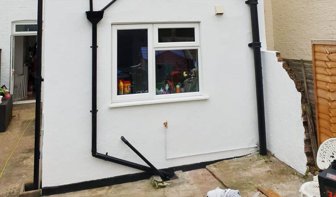 back house after exterior painting decorating london