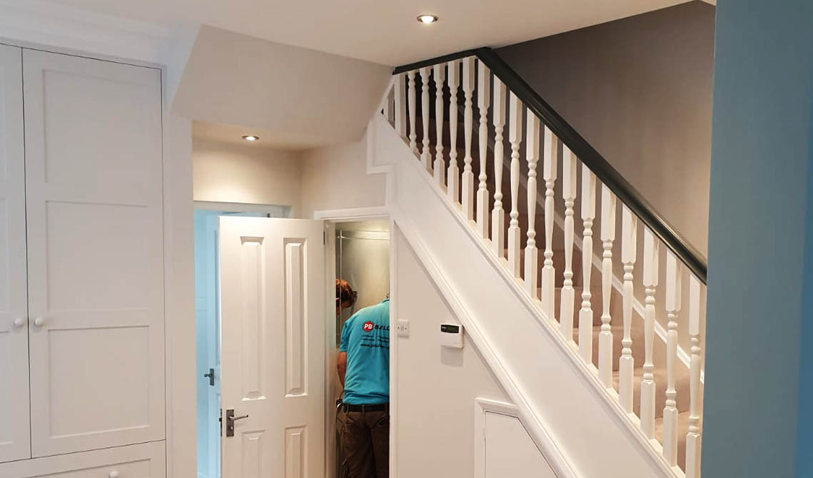 interior painting decorating london service stair railings pb builder