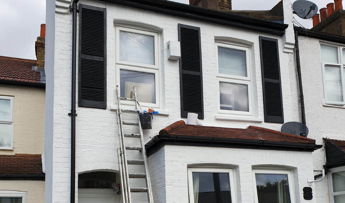 property exterior after painting decorating london front house