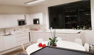 picture of kitchen during fitting and refurbishment by pb builder