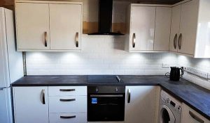 picture of kitchen during fitting and renovation in london