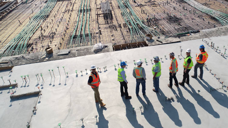 picture of builders at construction site