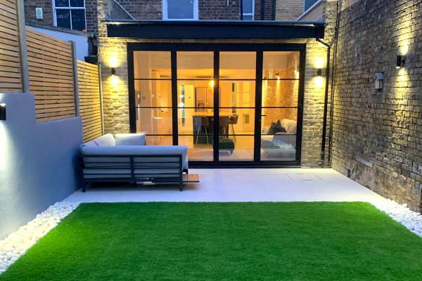 picture exterior of rear house extension in london after building by pb builder