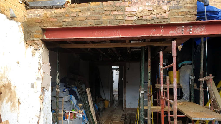 picture of a house during extension building by pb builder sutton