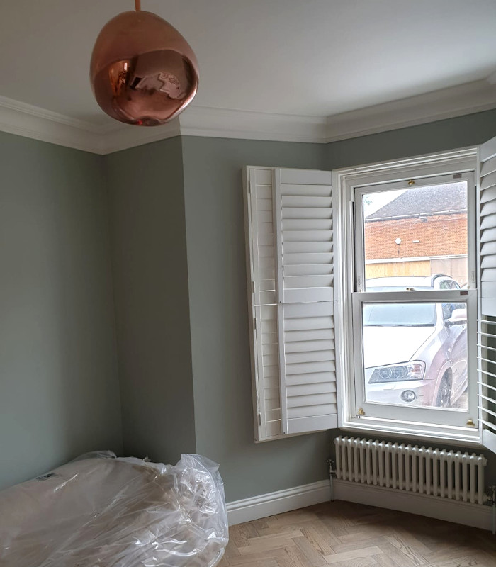 picture of painting and decorating of bedroom completed by pb builder