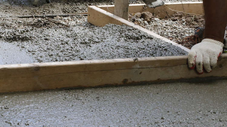 picture of concreting and screeding in progress