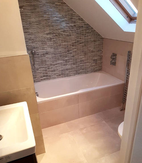 picture of loft converted into bathroom